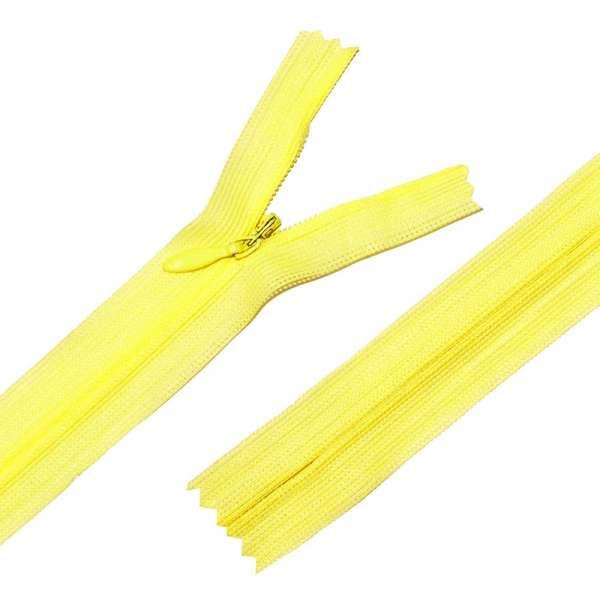 Молния потайная М-20 Тип-3 неразъемная нейлон лимонно-желтая