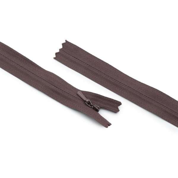 Молния потайная М-20 Тип-3 неразъемная х/б шоколадная