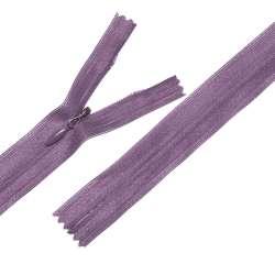Молния потайная М-24 Тип-3 неразъемная нейлон фиолетовая темная