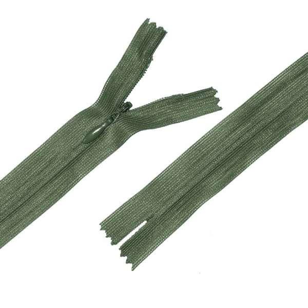 Молния потайная М-24 Тип-3 неразъемная нейлон зелено-болотная