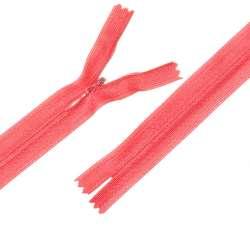 Молния потайная М-24 Тип-3 неразъемная нейлон розово-оранжевая