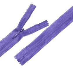 Молния потайная М-24 Тип-3 неразъемная нейлон фиолетовая яркая