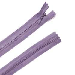 Молния потайная М-24 Тип-3 неразъемная х/б фиолетово-серая