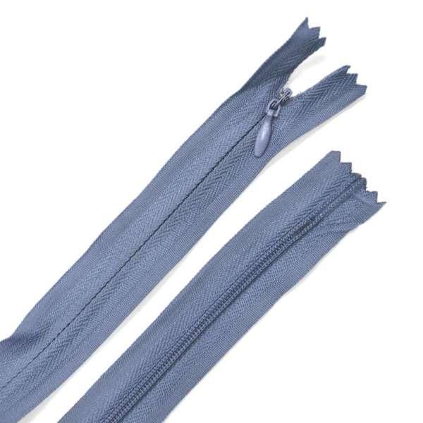 Молния потайная М-24 Тип-3 неразъемная х/б серо-синяя