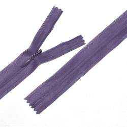 Молния потайная М-24 Тип-3 неразъемная нейлон фиолетовая