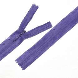 Молния потайная М-24 Тип-3 неразъемная нейлон фиолетово-чернильная