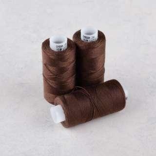 Нитки для джинсов 20/3 Омега-36 (150м) цвет 1444 коричневые темные