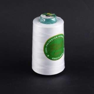 Нитки Пери 4000 ярдов №40/2 бобина белые с молочным оттенком