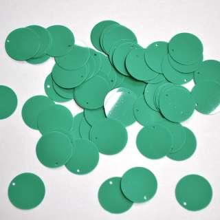 Пайетка матовая круглая 25мм 25 г зеленая