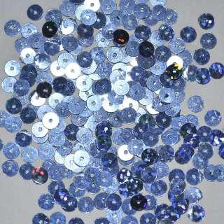 Пайетка голограмма 5мм 25г сине-голубая