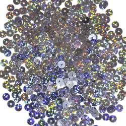 Пайетка голограмма 5мм 25г сине-стальная