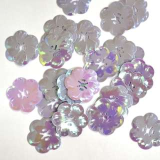 пайетка-цветок фиолетово-розовая хамелеон, 25 г