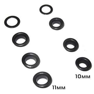 Пистоны круглые 10мм, 11мм черные