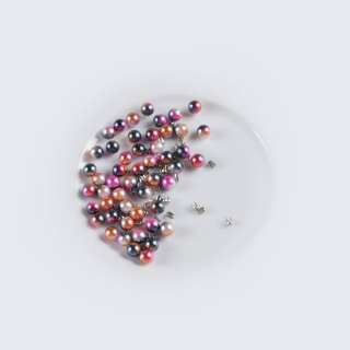 Жемчуг с заклепкой 6мм (50шт/уп) розово-синий