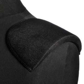 Плечевые накладки поролон обшитые трикотажем 10х110х165 черные