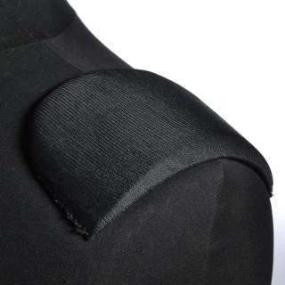 Плечевые накладки поролон обшитые трикотажем 10х95х140 черные
