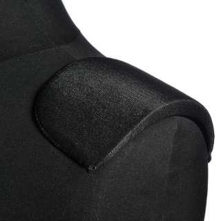 Плечевые накладки поролон обшитые трикотажем 15х108х170 черные