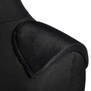 Плечевые накладки поролон обшитые трикотажем 14х125х175 черные