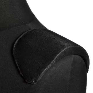 Плечевые накладки поролон обшитые трикотажем 18х106х185  черные