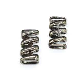 Пряжка неразъемная металл 18мм спиралька 42х20мм никель темный