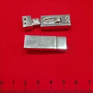 Пряжка металл разъемная магнитная пришивная 35х12мм никель
