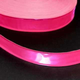 Тесьма светоотражающая 25мм розовая неон
