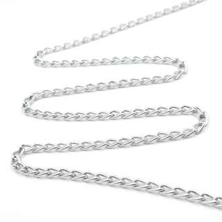 Цепочка металлическая 6х4 мм серебро