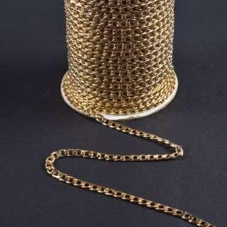цепочка металлическая 10х6мм светлое золото