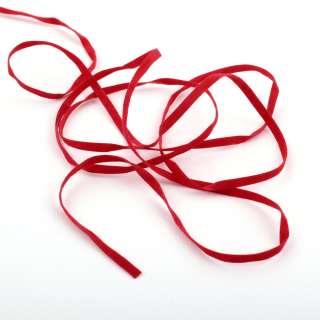 Шнур замша-флок 3 мм красный
