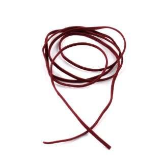 Шнур замша-флок бордовый (1шт/1м) ширина 3мм, толщина 0,6мм