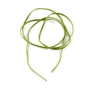 Шнур замша-флок салатовый (1шт/1м) ширина 3мм, толщина 0,6мм