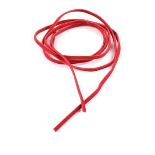 Шнур замша-флок красный (1шт/1м) ширина 3мм, толщина 0,6мм
