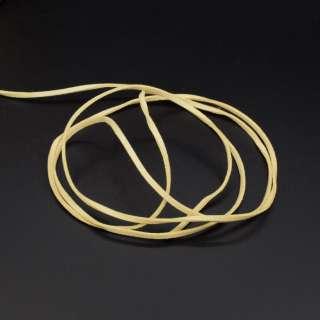 Шнур замшевый 3 мм толщина 1мм желтый