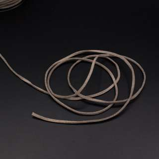 Шнур замшевый 3 мм толщина 1мм коричнево-серый