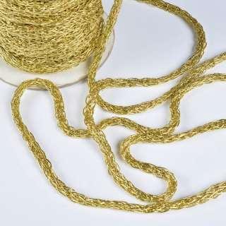 шнур кручен. золото ш.0,8 см.