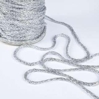 шнур кручен. серебро ш.0,8 см.