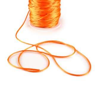Шнур-сутаж атласный круглый оранжевый
