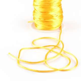 Шнур-сутаж атласный круглый желтый