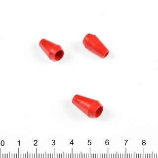 Наконечник пластик под шнур 4мм колокольчик 20мм красный