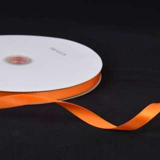 Лента атласная 10мм оранжевая яркая А2-03-068 на метраж (бобина 100яр/158г)