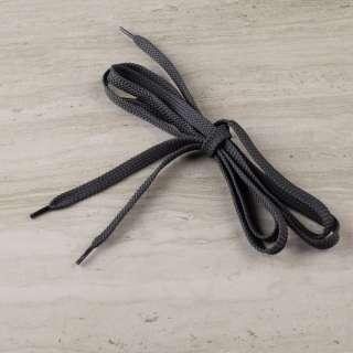 Шнурки обувные 1 пара 100см серые темные
