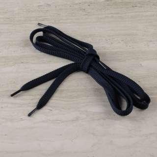 Шнурки обувные 1 пара 100см синие темные