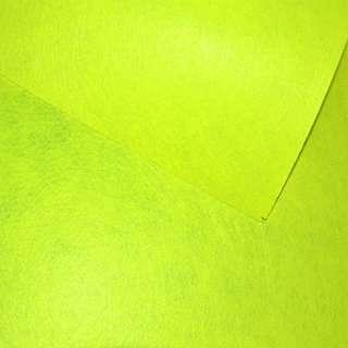 Фетр лист желтый неоновый (0,9мм) 21х30см