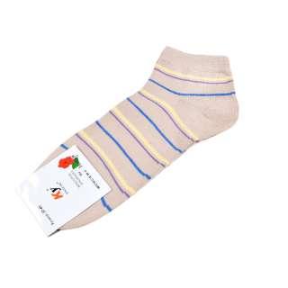Носки бежевые в желто-голубую полоску (1пара)