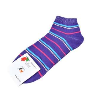 Носки фиолетовые в бирюзово-малиновую полоску (1пара)