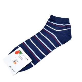 Носки синие в бело-голубую полоску (1пара)