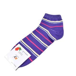 Носки фиолетовые в желто-малиновую полоску (1пара)