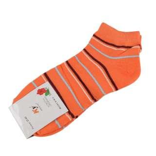Носки оранжевые в коричнево-белую полоску (1пара)