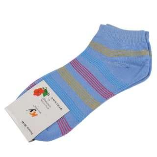 Носки голубые в красно-желтую полоску (1пара)