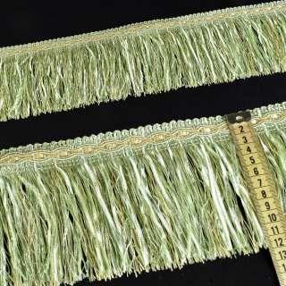 Бахрома с атласной лентой салатовая (в.825г)